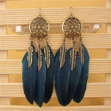 Dream Catcher Vintage Dangle Earrings - 2 Colors