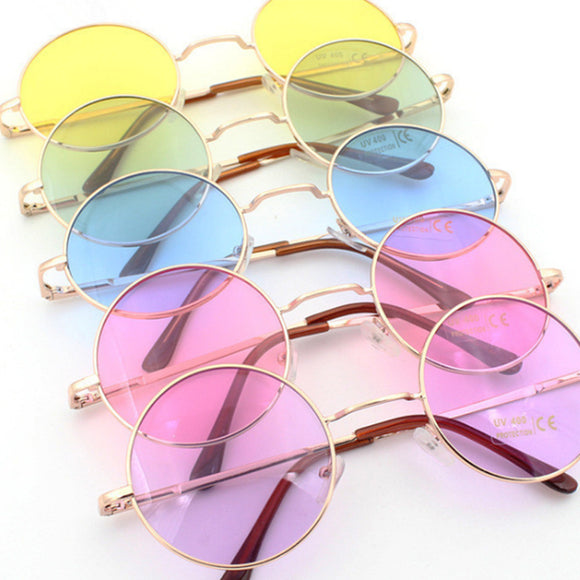 Retro Chic Metal frame round sunglasses