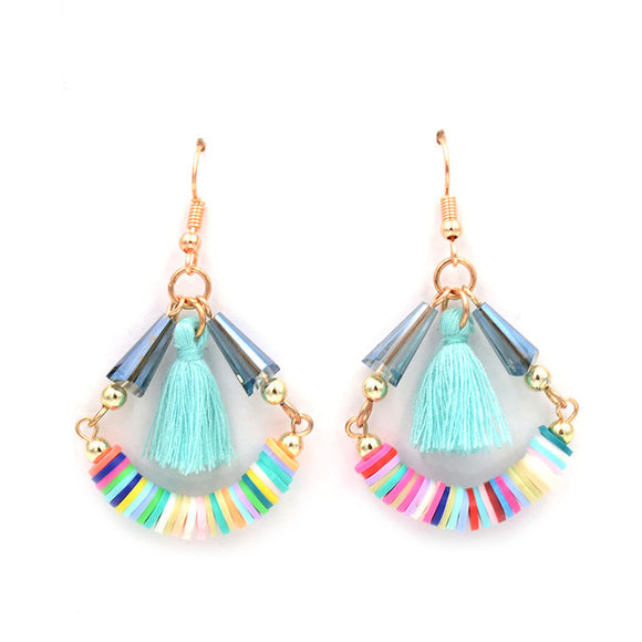 Multicolored Tassel Earrings - 7 Colors