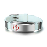 Engravable Medical Alert Bracelet Watch [Stainless Steel & Silicone] - 10 Colors