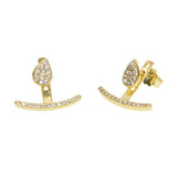 925 sterling silver double sided ear cuff earrings -  3 colors