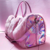 Unicorn Love Soft Faux Fur Hangbag