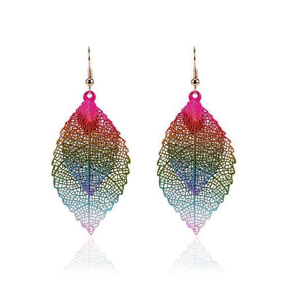 Boho Double Leaf Earrings - 5 Styles