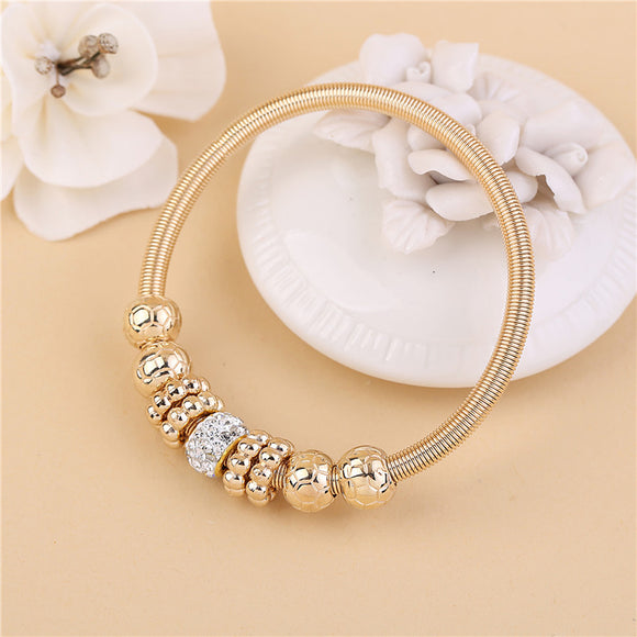 Crystal Charm Beads in Gold or Silver