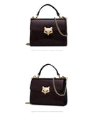 Foxer Chic Luxury Cowhide Leather Handbag - 2 Styles
