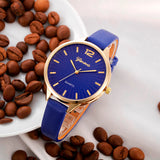 Dressy Casual Leather Quartz Wristwatch - 7 Colors