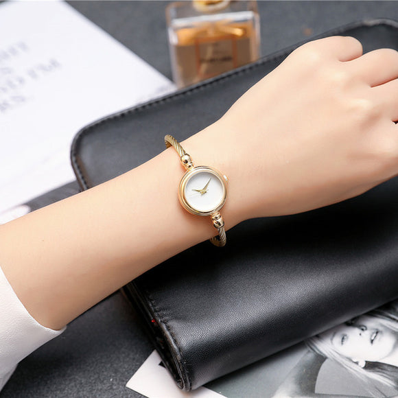 Elegantly Chic Super Slim Wrap Strap Wristwatch - 4 Colors