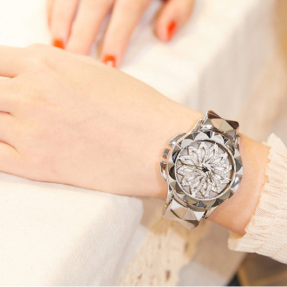 Floral Top Lux Quartz Wristwatch - 3 Colors