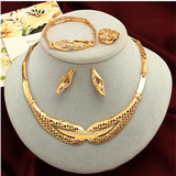 Dubai & African Inspired Gold Jewelry Set