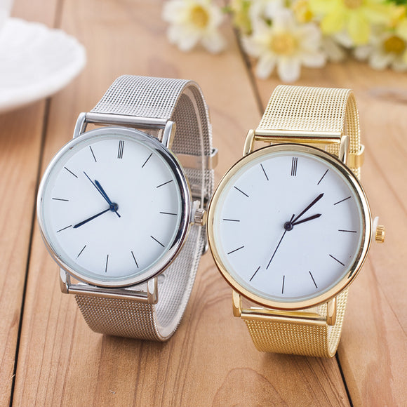 Casual Stainless Steel Quartz Watch in 2 colors