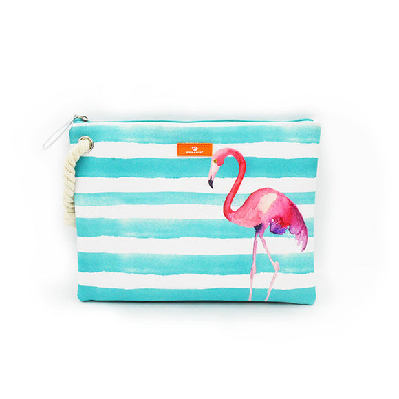 Flamingo Hemp Rope Clutch Bag - 5 Styles