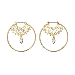 Waterdrop Bohemian Hoop Earrings