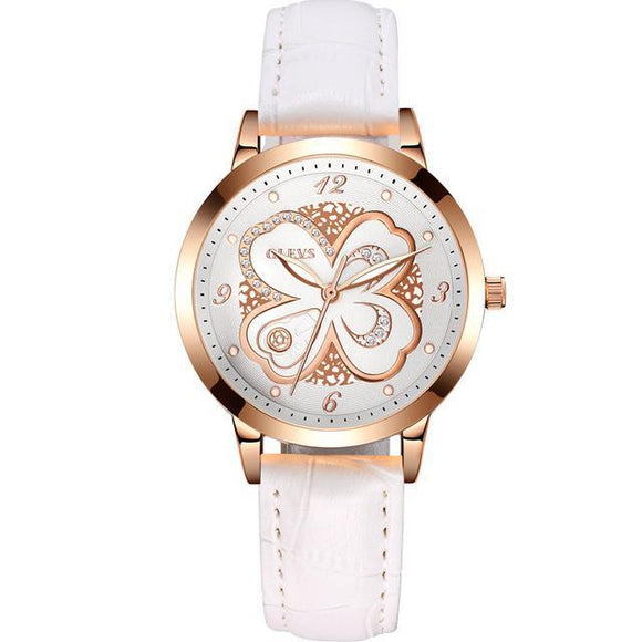 Steel Or Leather Luxury Floral Wrist Watch - 7 Styles