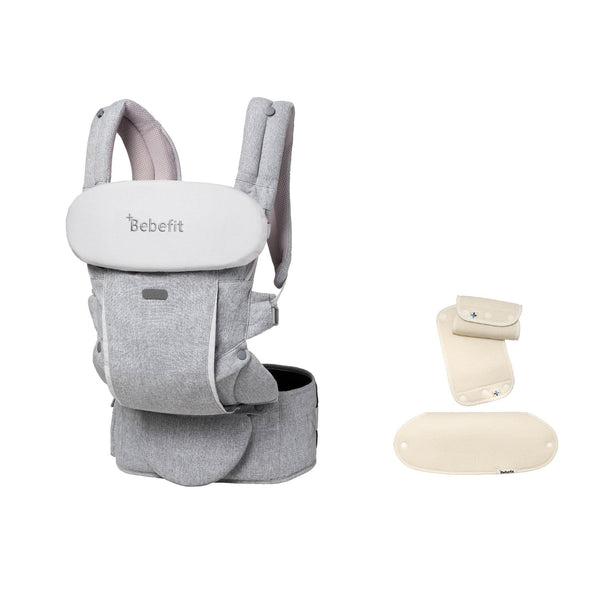 The Bebefit Convertible Hip-Seat Carrier and our 100% cotton Teething Pads.