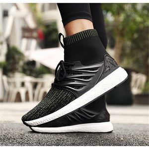 Men's Shoes Nis Lightweight High Top Socks Casual Shoes Men Sneakers Trainers Boots Men Vulcanize Shoes Breathable Mesh Sport Sneakers New
