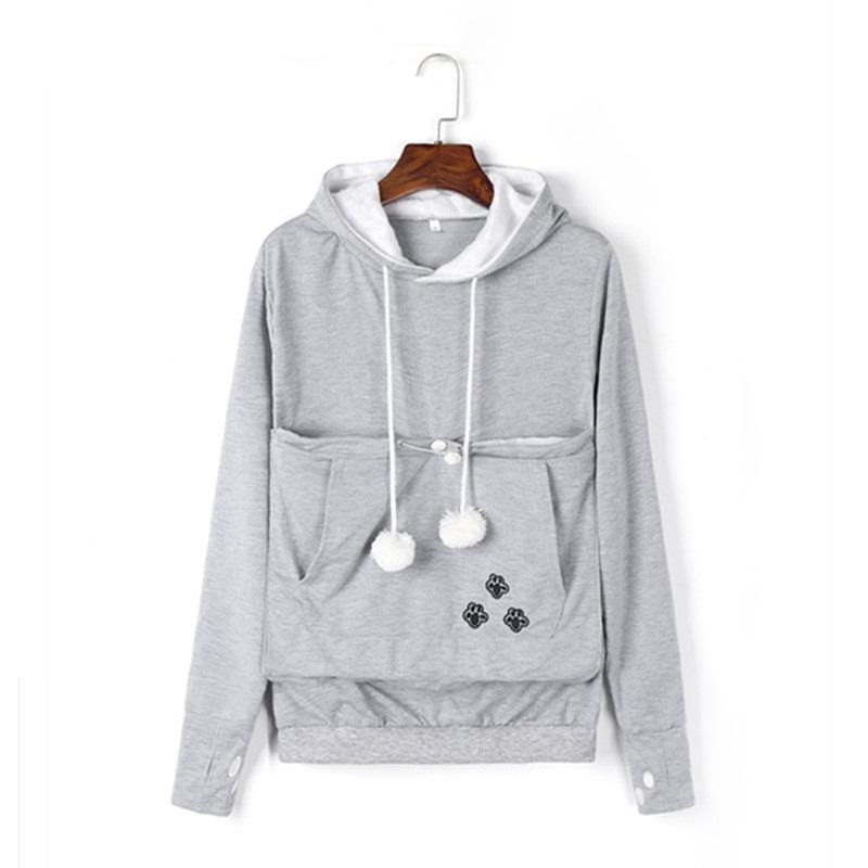 Plucky Panda Pet Lovers Hoodie With Cuddle Pouch