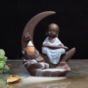 Monk On The Moon Incense Holder