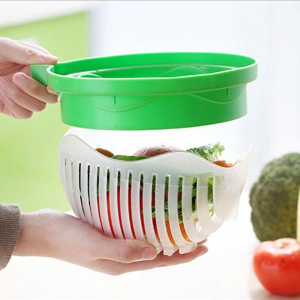Salad Cutter Bowl Upgraded Easy Salad Maker by WEBSUN, Fast Fruit Vegetable Salad Chopper Bowl Fresh Salad Slicer FDA-Approved