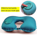 Hand-Press Inflatable Travel Pillow