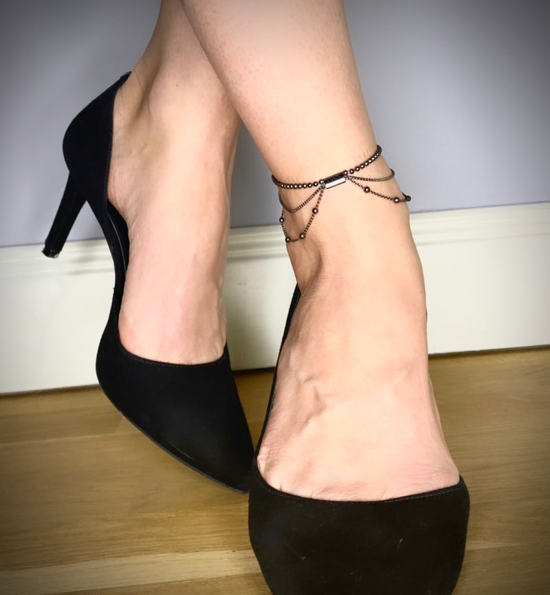 BLACK BUTTERFLY Anklet