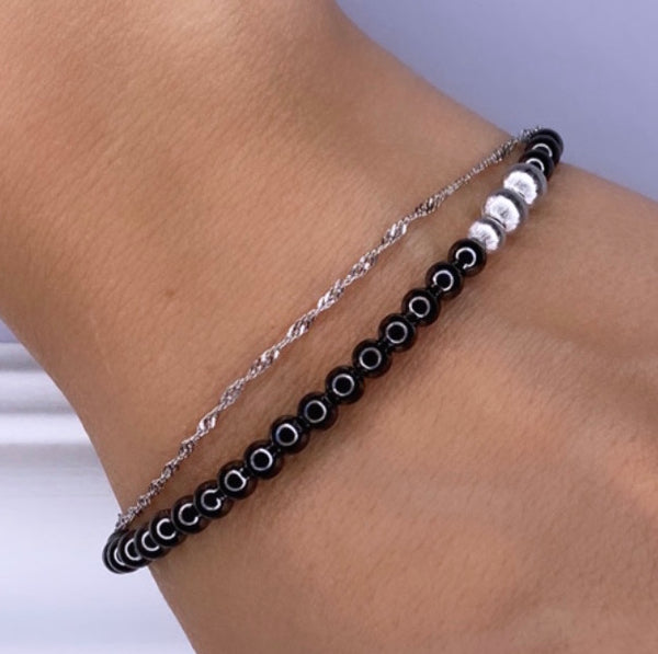 BLACK FLAMENCO BRACELET