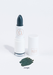 matte lipstick in shade Jungle (dark green)