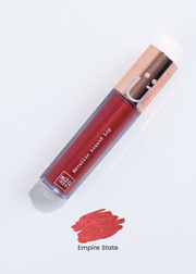 "metallic liquid lipstick in shade ""Empire State"" (metallic red)"