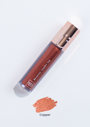 "metallic liquid lipstick in shade ""Copper"" (metallic copper)"