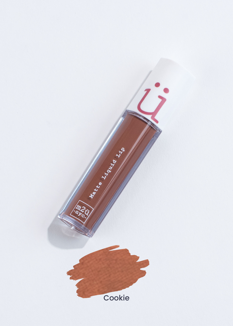 matte liquid lip in shade Cookie (brown)