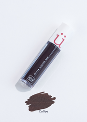 matte liquid lip in shade Coffee (dark black brown)