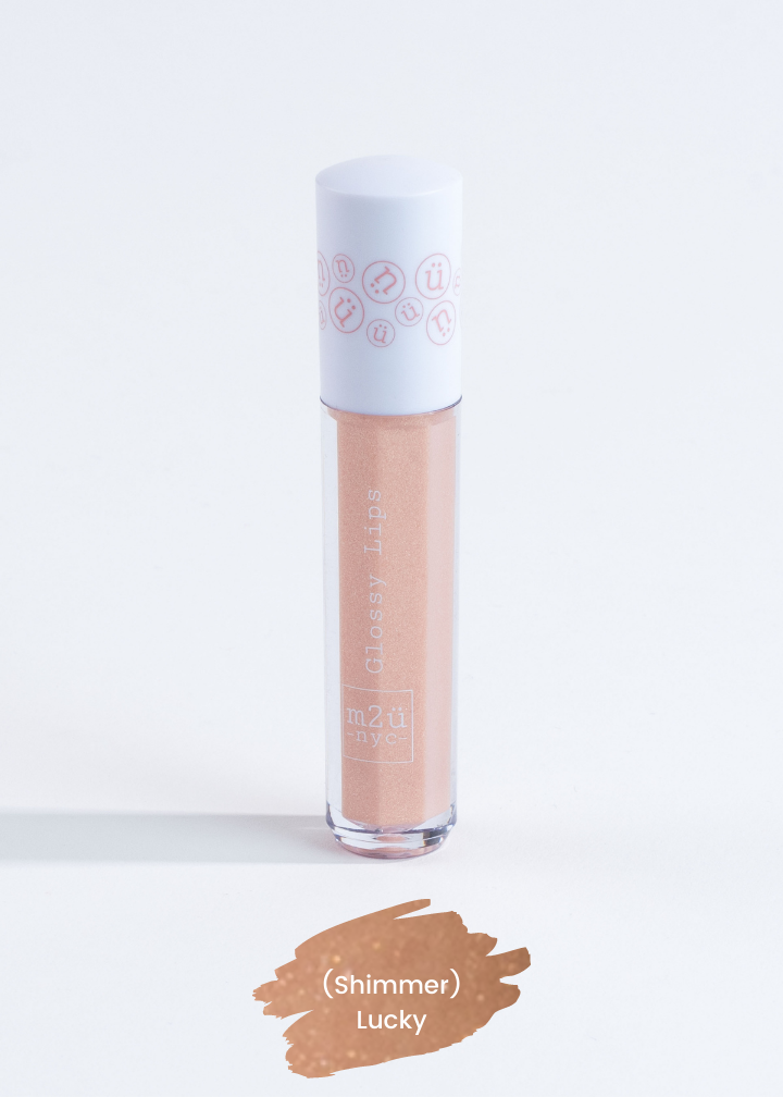 "lip gloss in shade ""Lucky"" (nude shimmer)"
