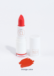 moisturizing lipstick in shade Orange Juice (bright orange)