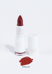 matte lipstick in shade Prince St (blood red)