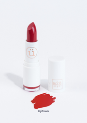 moisturizing lipstick in shade Uptown (scarlet red)