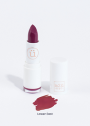moisturizing lipstick in shade Lower East (purple plum)