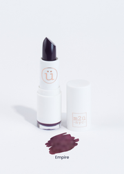 matte lipstick in shade Empire (dark purple plum)