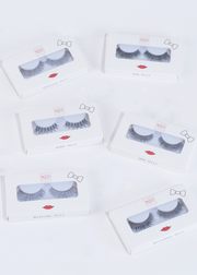 eyelashes collection, 6 pairs, from natural to dramatic styles
