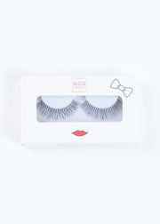 a pair of natural-to-full volume style false eyelashes with feathery ends to give dimension