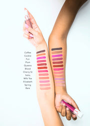 matte liquid lip arm color swatches