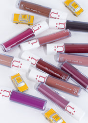 matte liquid lipsticks, red, purple, pink, nude, brown