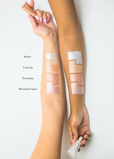 liquid highlighter arm swatches