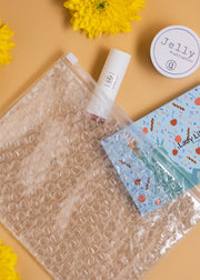 Clear Bubble Zipper Pouch Bag