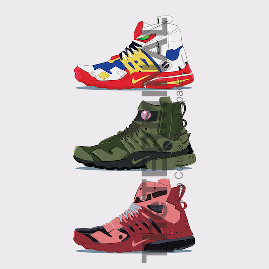 Gundam x NikeLab - Air Mid Presto [Gundam Colorway]