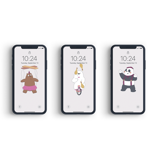 We Bare Bears x Circus theme - Bundling Package