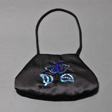 Load image into Gallery viewer, Black Satin Purse
