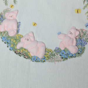 'Touchable Teddys' Baby Blanket