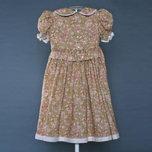 Load image into Gallery viewer, Girl's Brown Flowered Dress