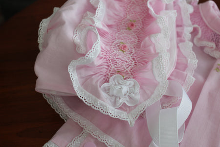 'Ruffles and Roses' Baby Bonnet