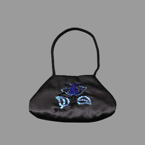 Black Satin Purse