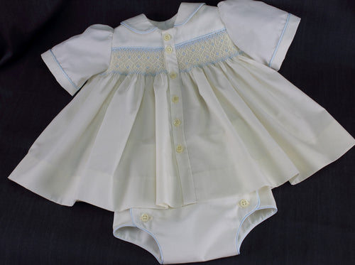 Baptismal or Special Occasion Romper (blue)